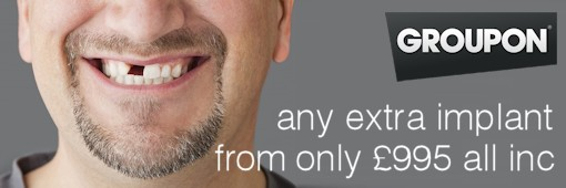 Groupon Offer - Dental Implant all inc 1295/995